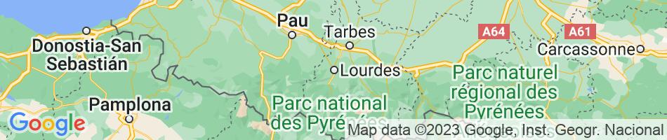 Map LOURDES
