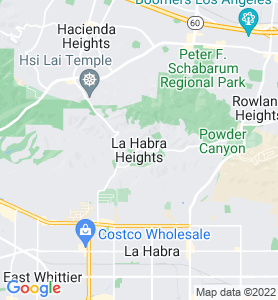 La Habra Heights CA Map