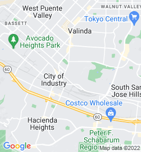 La Puente CA Map