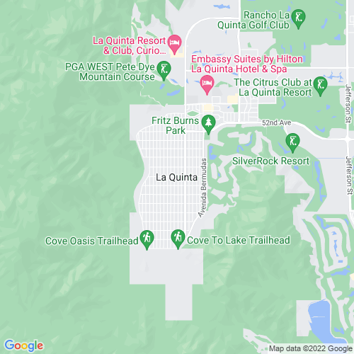 Map of La Quinta, CA