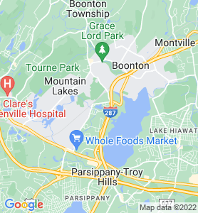 Lake Intervale NJ Map