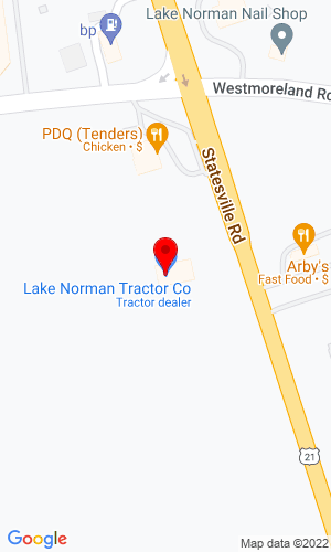 Google Map of Lake Norman Tractor 18309 Statesville Rd, Cornelius, NC, 28301