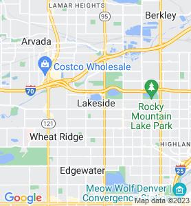 Lakeside CO Map