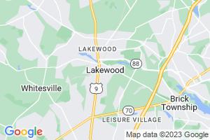 Google Map of Lakewood, NJ
