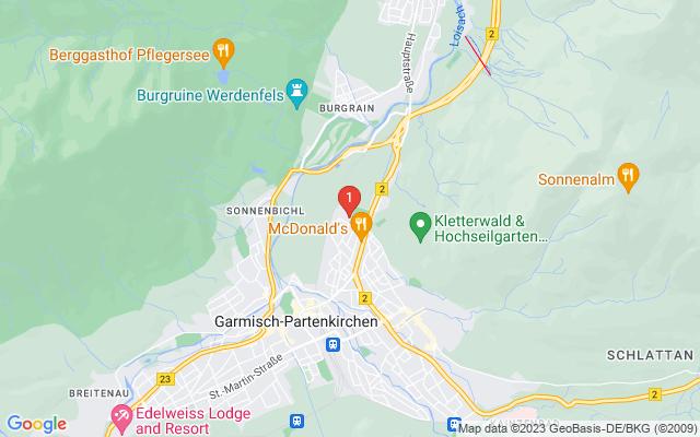 Google Map of Langmatz GmbH, 82467 Garmisch-Partenkirchen, Finkenstraße 1