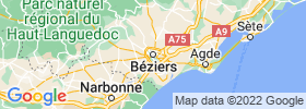 Beziers map