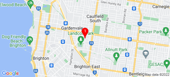 Google Map of Lansdown St Brighton East Melbourne, VIC 3187, AU