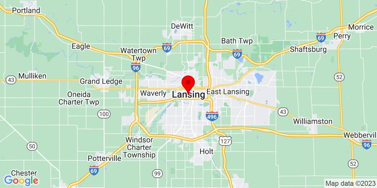 Google Map of Lansing, MI