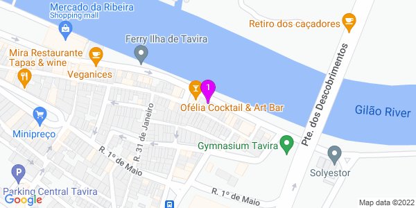 Google Map of Largo José Pires Padinha 172, 8800-346 Tavira, Portugal