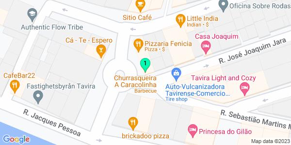 Google Map of Largo da Caracolinha, Nº 9 8800-310 Tavira, Portugal