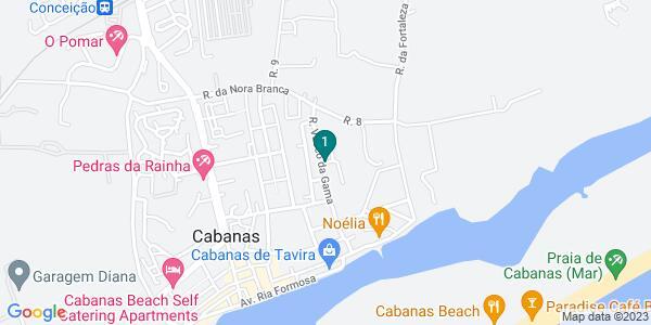 Google Map of Largo da República – Luz de Tavira