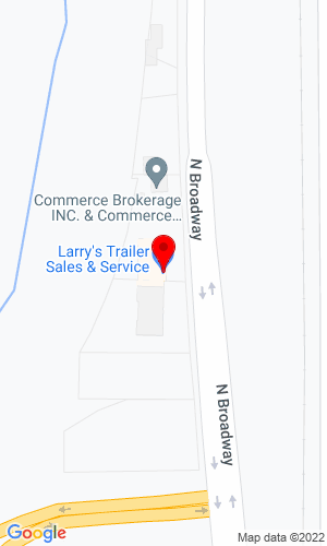 Google Map of Larry's Trailer Sales & Service 4153 N Broadway, Wichita, KS,