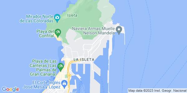Google Map of Las+Palmas+de+Gran+Canaria%2C+35008%2C+Spain
