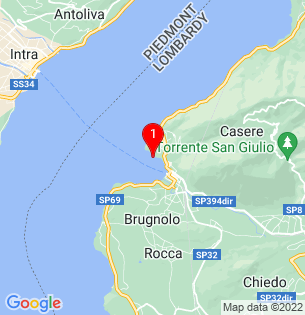 Google Map of Laveno Mombello, Lombardy, Italy