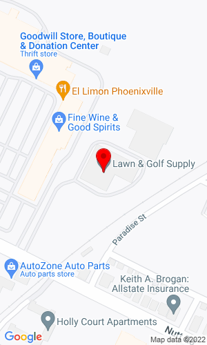 Google Map of Lawn and Golf Supply Co., Inc. 647 Nutt Road, Phoenixville, PA, 19460