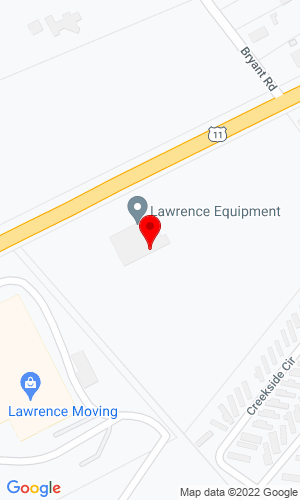 Google Map of Lawrence Equipment 357 Simmons Drive, Cloverdale, VA, 24077