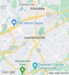 Lawrenceville GA Map