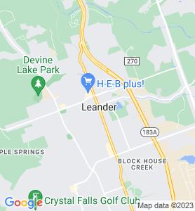 Leander TX Map