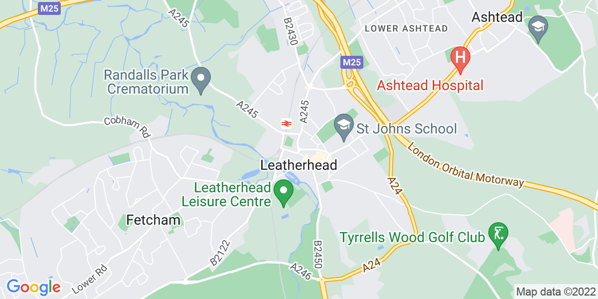 Map: Care Assistant role in Leatherhead