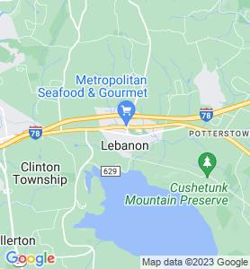 Lebanon NJ Map