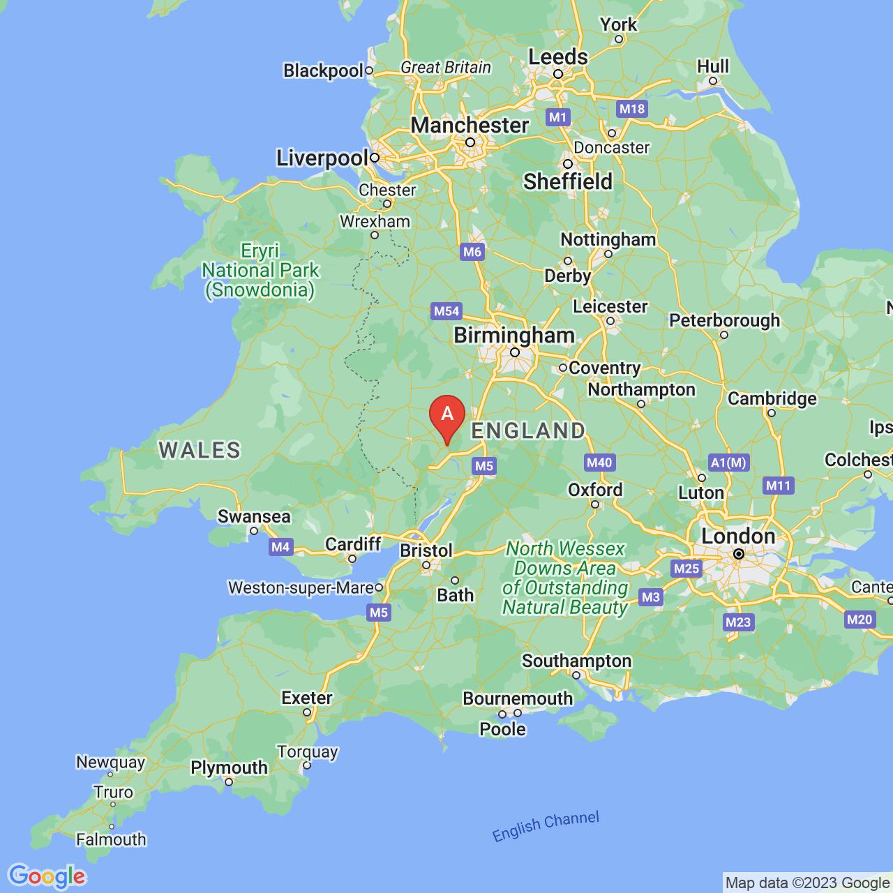 Ledbury, England Map