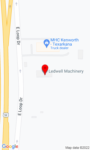 Google Map of Ledwell Machinery 910 East Loop Drive, Texarkana, TX, 75501-6645