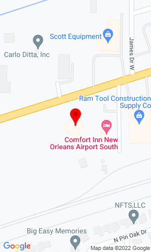 Google Map of Lee Tractor Company 10203 Airline Highway, St Rose, LA, 70087,