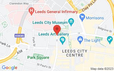 Map of Leeds, UK