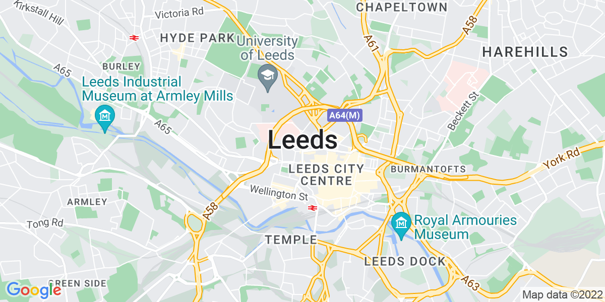 Map: Field Service Engineers - Sheffield/Wakefield/Barnsley/ area position in Leeds