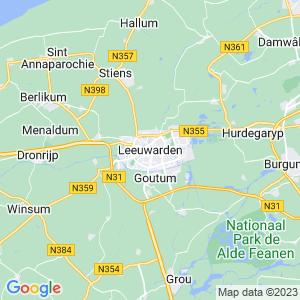 Werkgebied van onze bestrijder in Leeuwarden