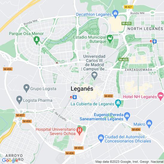 Mapa redondo Leganés