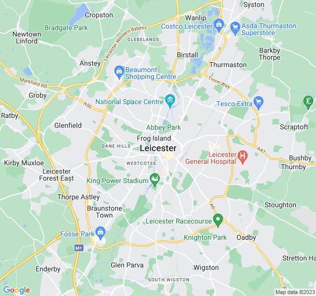 Website Designer Leicester Google map of location