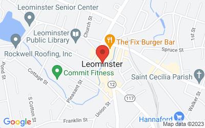 Map of Leominster, MA, USA