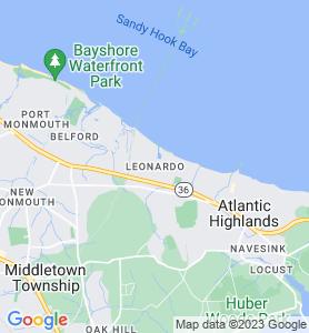 Leonardo NJ Map