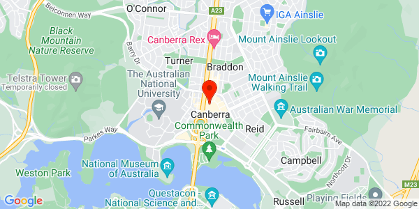 Google Map of Level 2, 2 Mort Street, Canberra, 2601