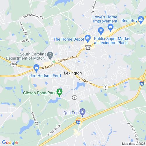 Map of Lexington, SC