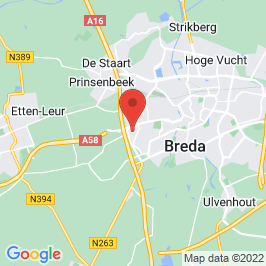 Google map of Molen en pakhuis De Hoop, Breda