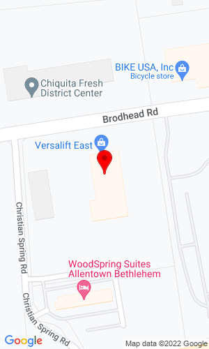 Google Map of Lift All East, Inc. 2706 Brodhead Road, Bethlehem , PA, 18020