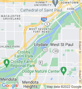 Lilydale MN Map