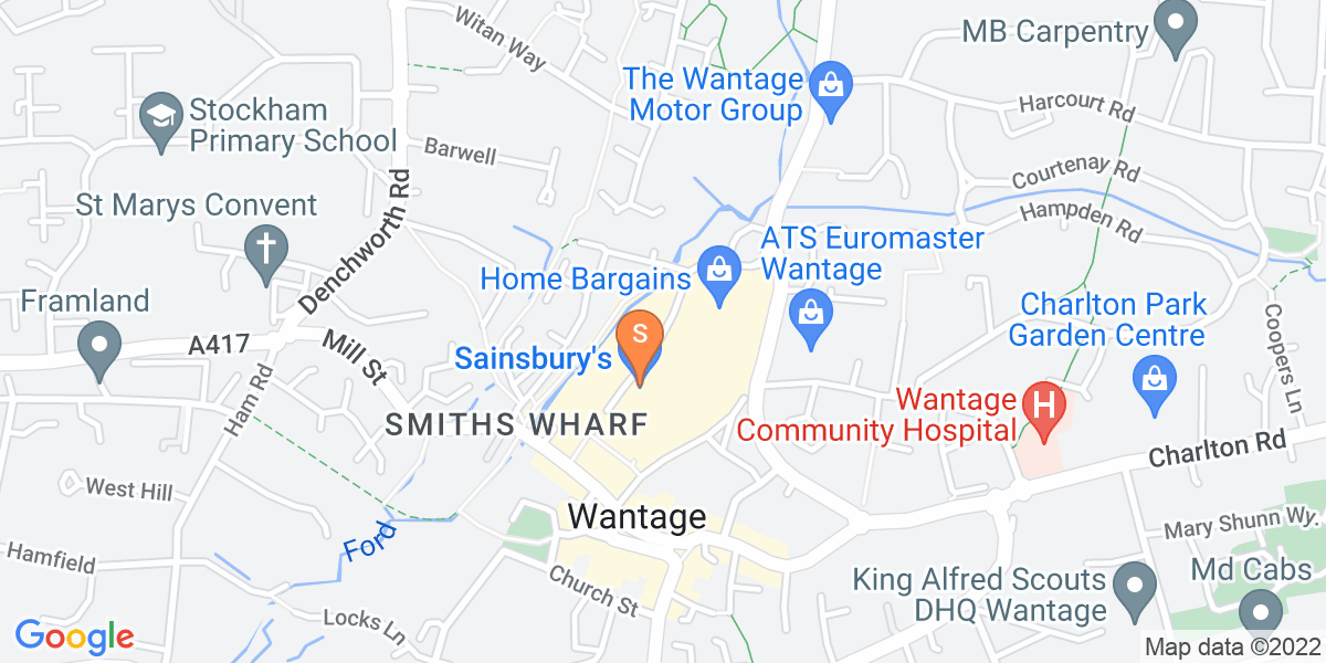 Google Map of Limborough Road Wantage OX12 9AJ