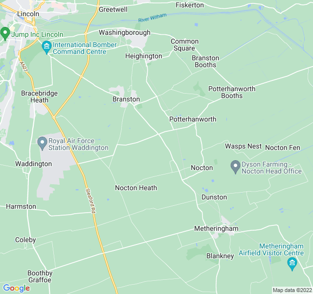 Website Designer Lincoln Google map of location