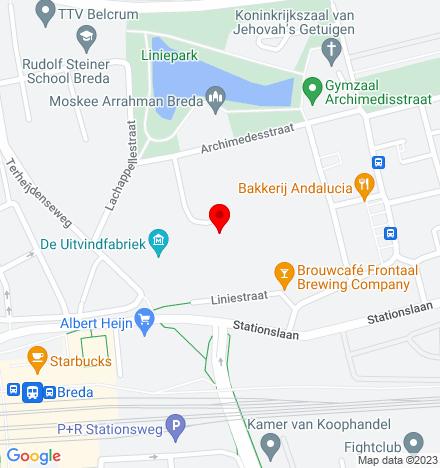 Google Map of Liniestraat 31 4816 BG Breda
