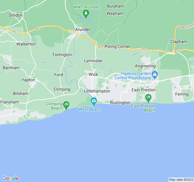 Website Designer Littlehampton Google map of location