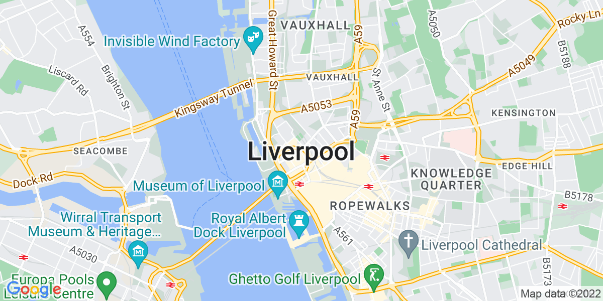 Map: Corporate Paralegal job role in Liverpool