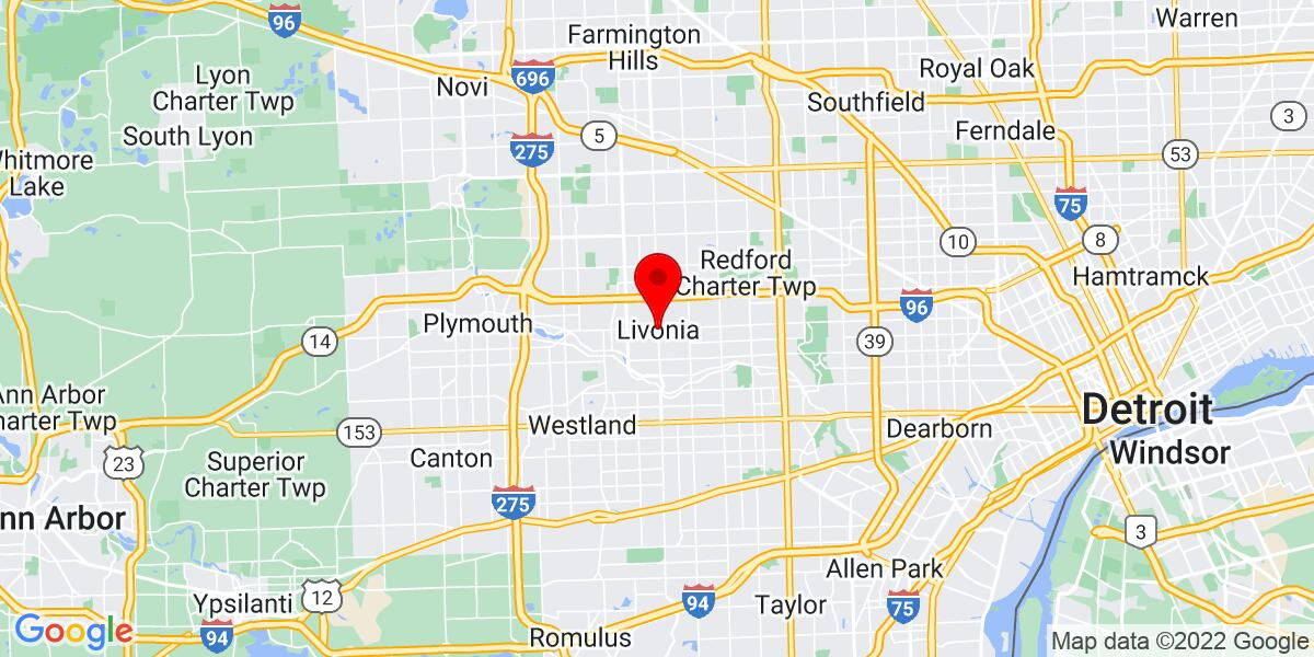 Google Map of Livonia, MI