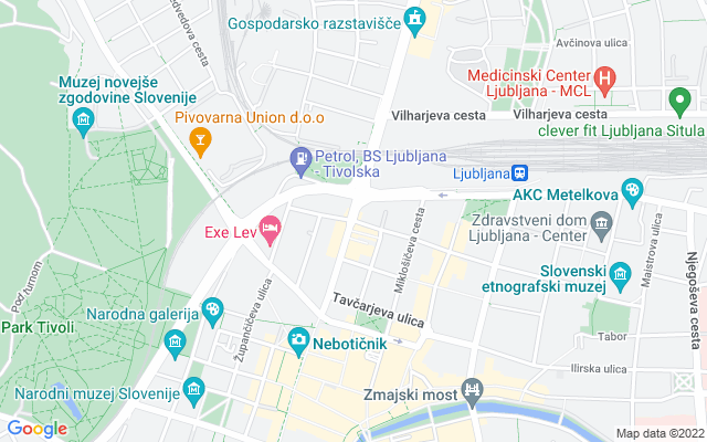 Show map of Ljubljana