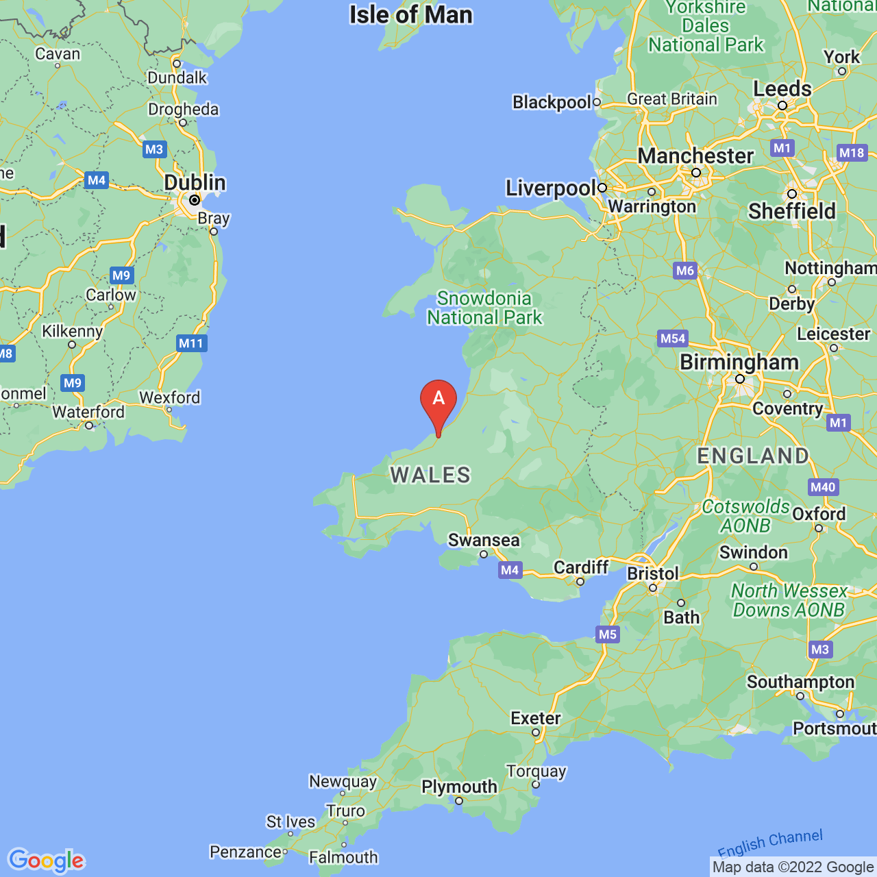 Llanarth, Wales Map