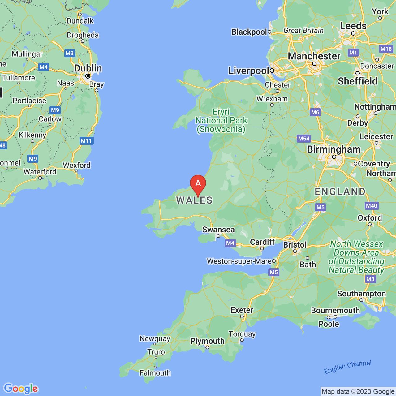 Llandysul, Wales Map