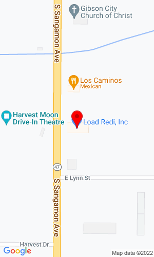 Google Map of Load Redi, Inc. 1124 S Sangamon Ave, Gibson City, IL, 60936