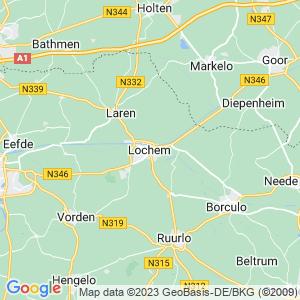 Werkgebied van onze bestrijder in Lochem